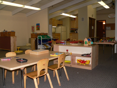 Our spacious main room has a wide range of toys and activities.