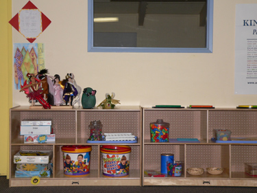 The toys and activities are selected with specific skills in mind.